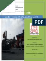 Visita técnica a la planta asfáltica empresa constructora ECON