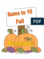 Sums to 10 Fall Version