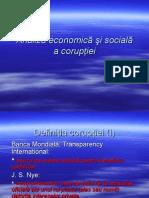 Analiza economică şi socială a corupţiei