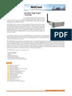 Datasheet AIRNET 54Mb 802.11g Indoor High Power Access Point