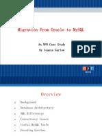 从 Oracle 合并到 MySQL - NPR 实例分析