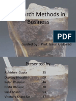 Research Methods in Business