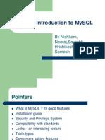 MySQL 简要介绍