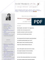 Une étude d'un sonnet de Philippe Jaccottet - sois tranquille, cela viendra -