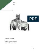 Síntesis y crítica, el lobo estepario (2)