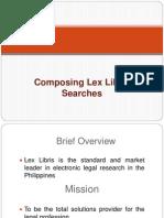 Lex Libris Searches