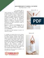 Serie Para Balancear El Cuerpo y La Mente
