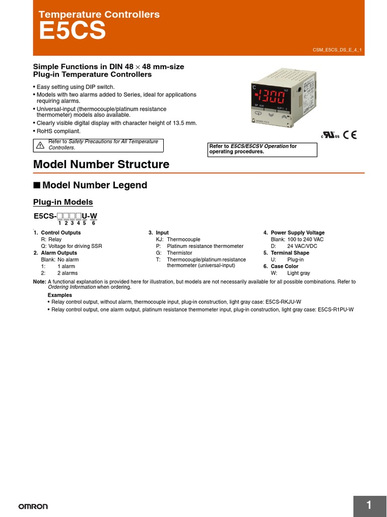 omron e5cs | Thermocouple | Relay on