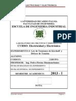 URP 2013 I EE Guia 3 Ley de Tensiones de Kirchoff y Divisor de Tension