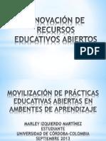 MOVILIZACIÓN DE PRÁCTICAS EDUCATIVAS ABIERTAS EN AMBIENTES DE APRENDIZAJE
