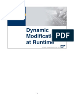 Dynamic modification at run time