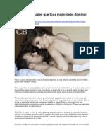 Consejos Sexuales Que Toda Mujer Debe Dominar en La Cama 180913