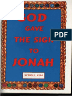 God Gave the Sign to Jonah