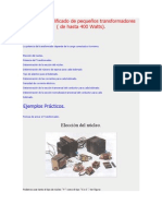 Cálculo simplificado de pequeños transformadores