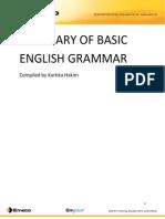 Summary of Basic English Grammar