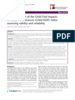A Malay version of the Child Oral Impacts on Daily Performances (Child-OIDP) index