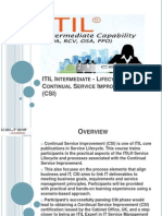 ITIL Intermediate - Lifecycle Certification and Training