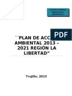 Plan de Accion Ambiental Regional 2013 2021