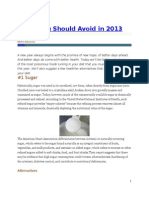 Foods You Should Avoid in 2013