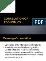 5)Correlation of Economics