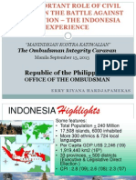 Indonesia Anti-Corruption Experience