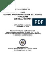 2013 Global Ugrad Prog Application