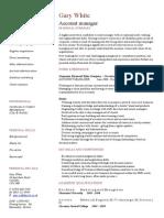 Professional CV Format In Pakistan