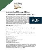 Bible Blessing Liturgy