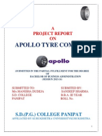 18923792 Project on Apollo Tyres Ltd for PCR