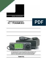 Manual do rádio ICOM  IC-706MKIIG em Português do Brasil