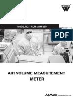 Air Volume Measurement Meter