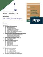 MCOM Advanced Financial Accounting