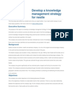 Develop a Knowledge Management Strategy for Nestle