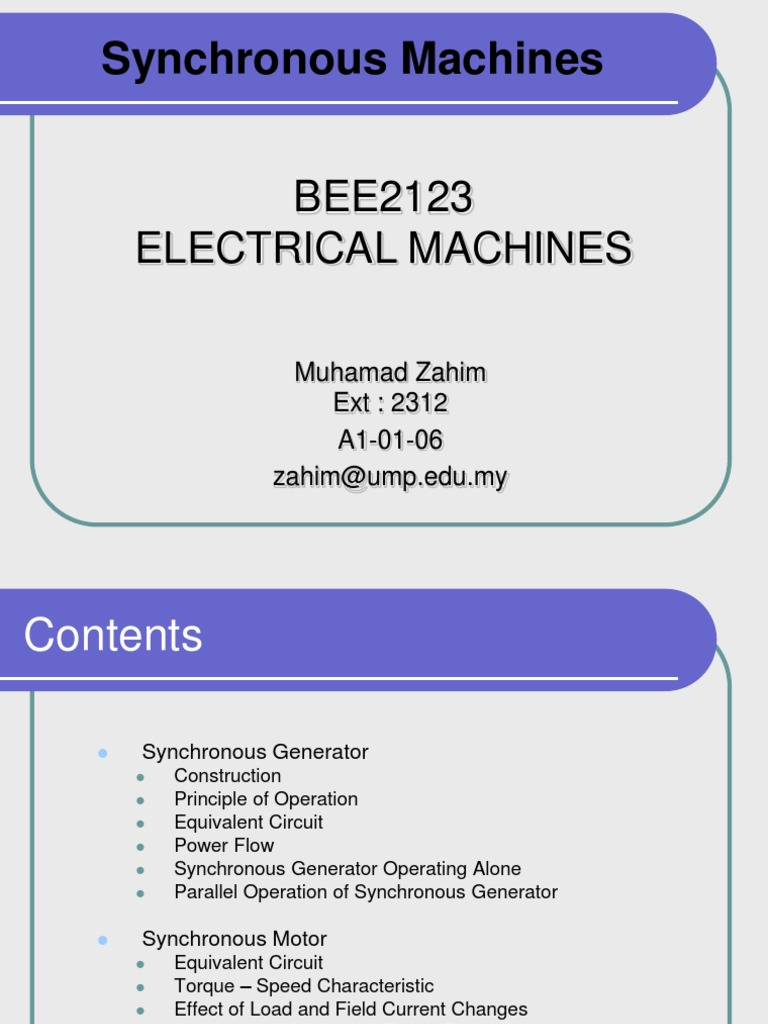 Chapter4 Synchronous Machines Magnetism Electrodynamics Generator Short Circuit Characteristics