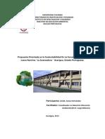 Escuela Sustentable Presente y Futura Licda. Sonia Hernandez