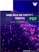 Hand Held Air Particle Counter