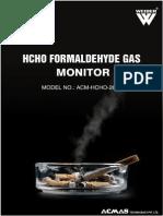 Hcho Formal Dehyde Gas Monitor