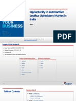 Opportunity in Automotive Leather Upholstery Market in India_Feedback OTS_2013