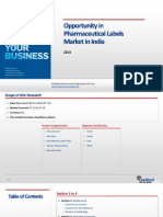 Opportunity in Pharmaceutical Labels Market in India_Feedback OTS_2013
