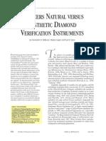 De Beers Natural Versus Synthetic Diamond Verification Instruments