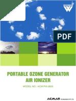 Portable Ozone Generator Air Ionizer