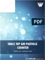 Table Top Air Particle Counter