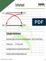Interfernce Cal Sheet