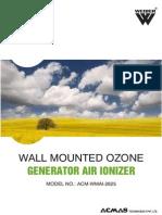 Wall Mounted Ozone Generator Air Ionizer