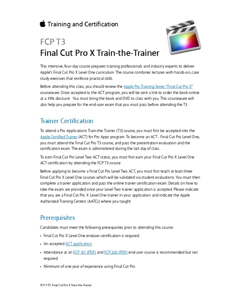 Fcp T3 Professional Certification Test Assessment