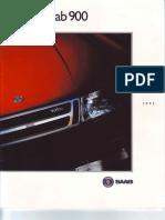 USA - 1992 Saab 900 brochure