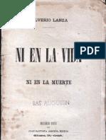Ni en la vida ni en la muerte. Edición 1890