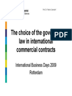 The Choice of Governing Law in international Commercial Contract