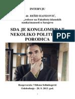 Intervju Oslobođenja - dr. Rešid Hafizović, 28. 09. 2013. god.