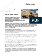 Boeing's Directed Energy Systems